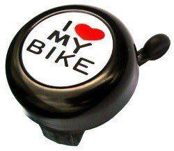 Велосипедный звонок Spelli I love my bike черный (под левую руку)