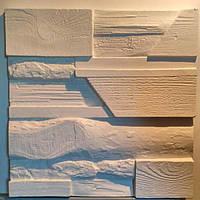 """Пластикова форма для 3d панелей """"Деревне мікс"""" 45*45 (форма для 3д панелей з абс пластику)"""