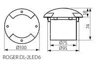 Светильник грунтовый Kanlux Roger DL-2LED6  12W IP66, фото 2