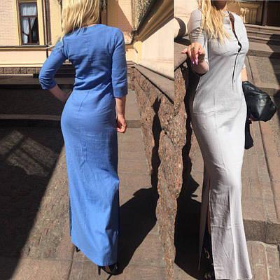 Платье рубашка из облегченного льна