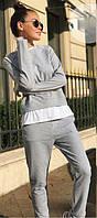 Женский спортивный костюм с имитацией футболки