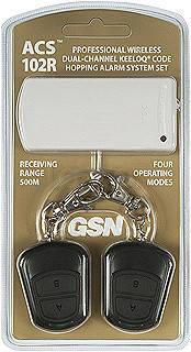 Комплект радиоуправления сигнализацией двухканальный GSN ACS-102R ( приёмник + 2 брелока-передатчика, фото 2