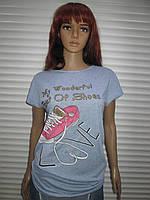 Женская модная футболка с принтами р L/XL Турция