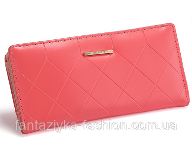 Женский кошелек розовый с магнитом