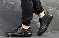 Ecco мужские  кроссовки черные (Реплика ААА+)
