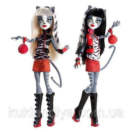 Набор Monster High Мяулодия и Пурсефона  Meowlody and Purrsephone, фото 1