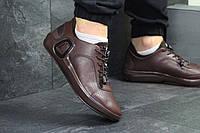 Ecco мужские  кроссовки коричневые