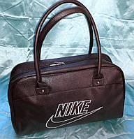 Женская сумка Nike 115362 саквояж спортивная гладкая эко-кожа 40х25х16см