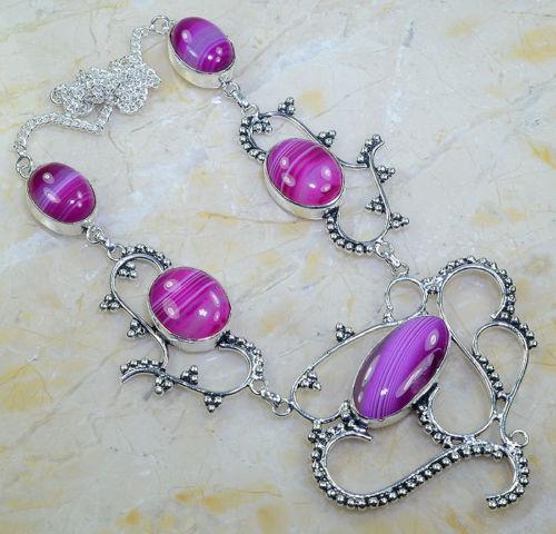Красивое ожерелье из Ботсванского агата! Колье из натурального камня - ботсванский агат!