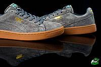 Мужские кроссовки Puma Suede серые  пума Топ качество! - Замша,подошва полиуретан ,прошиты,раз-ры:41-45, фото 1