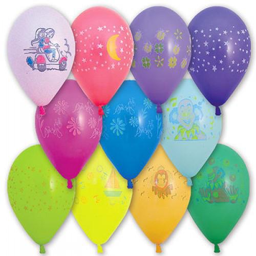 """Воздушные шары """"Детские"""" 10""""(25 см) aссорти пастель. В упак: 100 шт ТМ""""Gemar"""""""