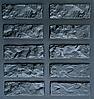 "Форма декоративного камня и плитки ""Колотый  кирпич"" (в комплекте - 30 форм)"