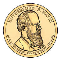 США 1 доллар 2011, 19 президент Ратерфорд Хейз (1877-1881)
