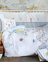 Детское постельное белье для младенцев Karaca Home ранфорс Balloon аппликация Коллекция 2018