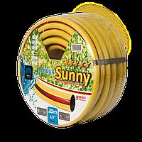 Усиленный поливочный шланг 5 Bar рабочее давление Радуга 3/4 20м желтый