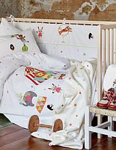 Детское постельное белье для младенцев Karaca Home ранфорс Circus аппликация Коллекция 2018
