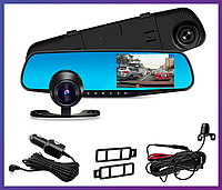 Видеорегистратор зеркало с задней камерой Vehicle Blackbox DVR Full HD