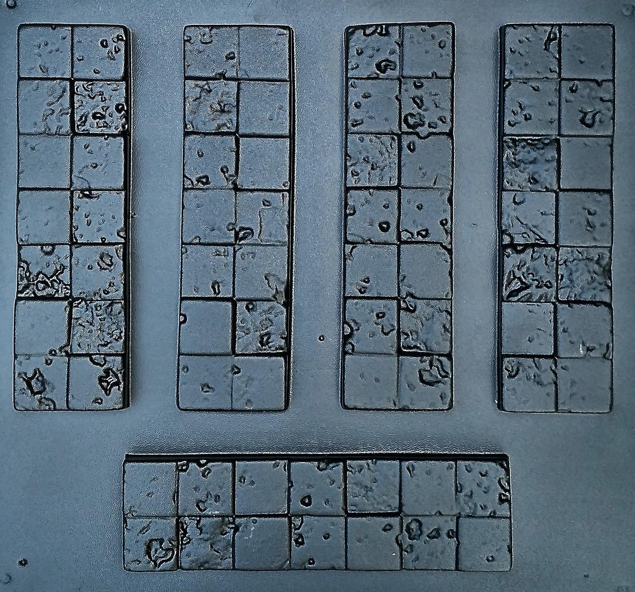 """Форма для декоративного камня и плитки """"Корсика"""", АБС-пластик, комплект на 15 плиток, фото 1"""