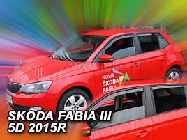Дефлектори вікон (вітровики) Skoda Fabia III 2014 -> HB 4шт(Heko)