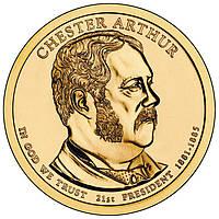 США 1 доллар 2012, 21 президент Честер Артур (1881-1885)