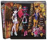 Набор Monster High Бу Йорк Кэтти Нуар, Клодин Вульф и Дракулаура, фото 2
