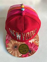 Кепка реперка детская летняя для девочки New York р. 52