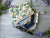 Детская сумочка бирюзовый клевер