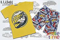Костюм для мальчика футболка и шорты р.98,104,110,116,122,128,134,140  SmileTimeStreet Racing, желтый