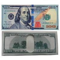 Кошелек, бумажник, портмоне, новых 100 долларов