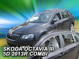 Дефлекторы окон (ветровики)   Skoda Octavia III A7 2013R.-> 5D Combi 4шт(Heko)