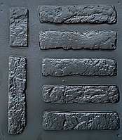 "Форма для декоративного камня и плитки ""Старый кирпич"", в комплекте - 19.5  форм, фото 1"