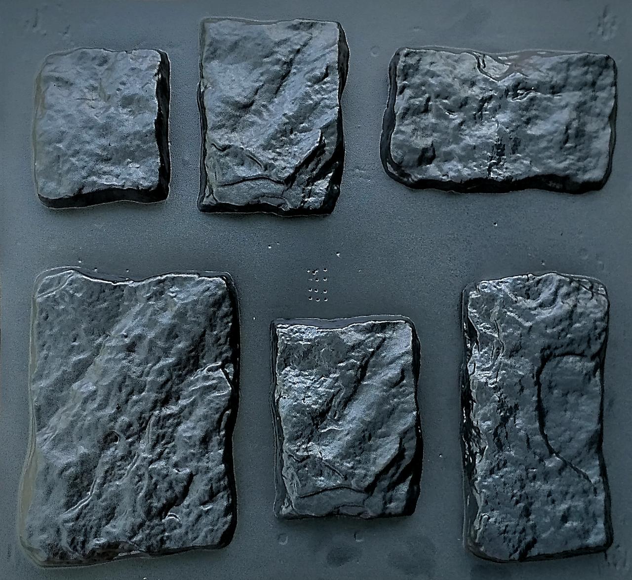 """Форма для декоративного камня и плитки """"Кольраби"""" (6 видов камня, 15 форм)"""