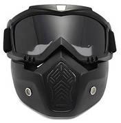 Мотоциклетна маска окуляри, лижна маска для катання на велосипеді або квадроциклі (затемнена)