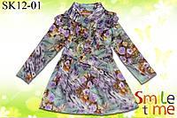 Плащ детский для девочки р.98,104,110,116,122,128 SmileTime Jenna Rose, фиолетовый, фото 1