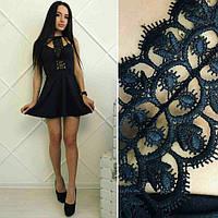 Женское короткое платье белое, черное 887700