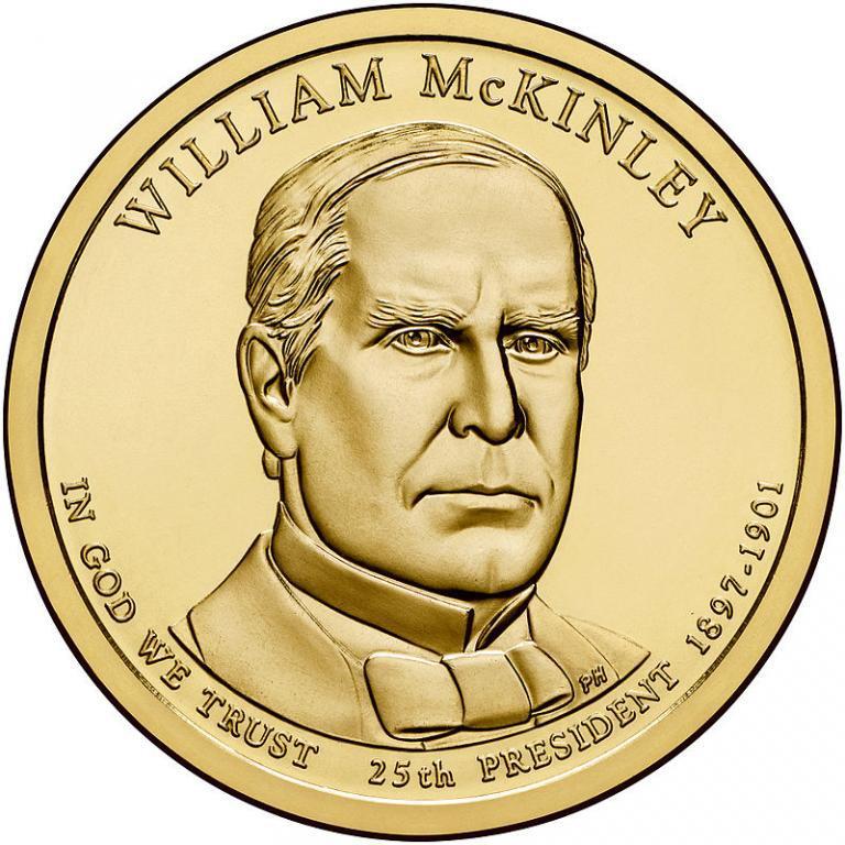 США 1 доллар 2013, 25 президент Уильям Мак-Кинли (1897-1901)