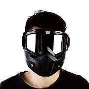 Мотоциклетна маска окуляри, лижна маска для катання на велосипеді або квадроциклі (срібляста)