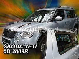 Дефлектори вікон (вітровики) Skoda Yeti 2009 5D 4шт (Heko)