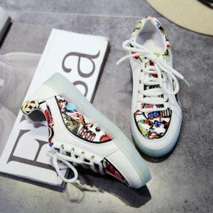 Graffiti Color Светящиеся кроссовки Графити Цветные на шнурках 8ff910d7ad981