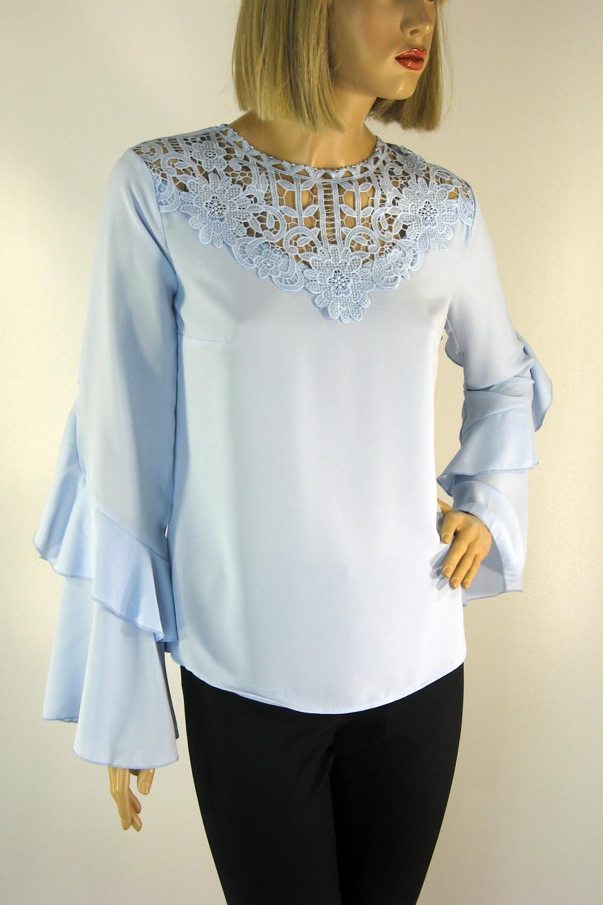 Нарядна  блузка з мереживом
