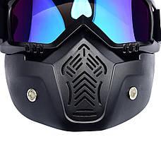 Мотоциклетная маска-трансформер! очки, лыжная маска, для катания на велосипеде или квадроцикле, фото 3
