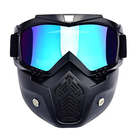 Мотоциклетная маска-трансформер! очки, лыжная маска, для катания на велосипеде или квадроцикле, фото 2