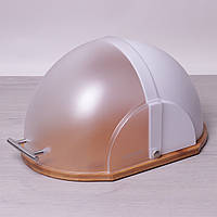 Хлебница Kamille 36,5 х 26,5 х 19 см из пластика в форме купола на бамбуковой основе