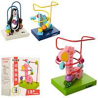 Проволочный лабиринт, деревянная игрушка с разноцветными фишками, 3 варианта
