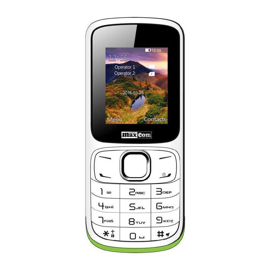 Кнопочный мобильный телефон на 2 сим карты с фонариком Maxcom MM129