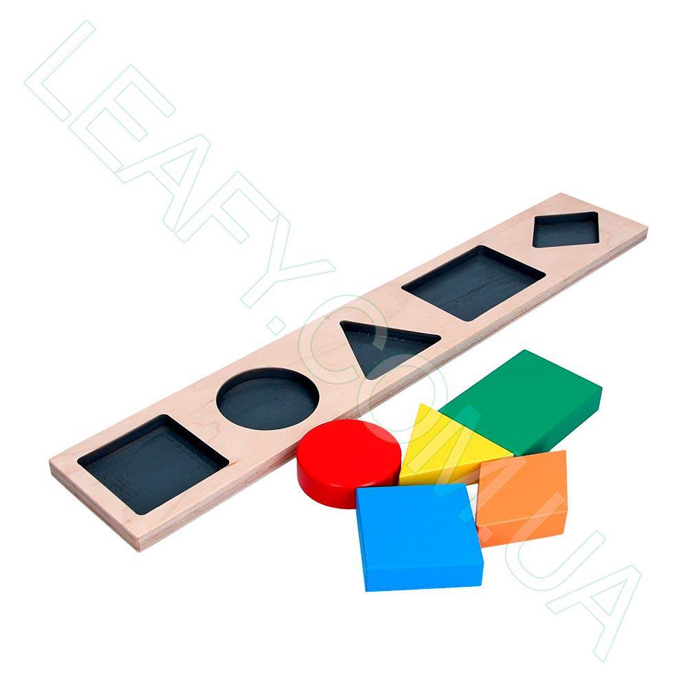 Дидактическая рамка-вкладыш на 5 фигур, Komarovtoys