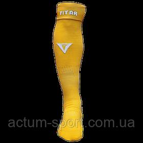 Гетры футбольные Titar желтые