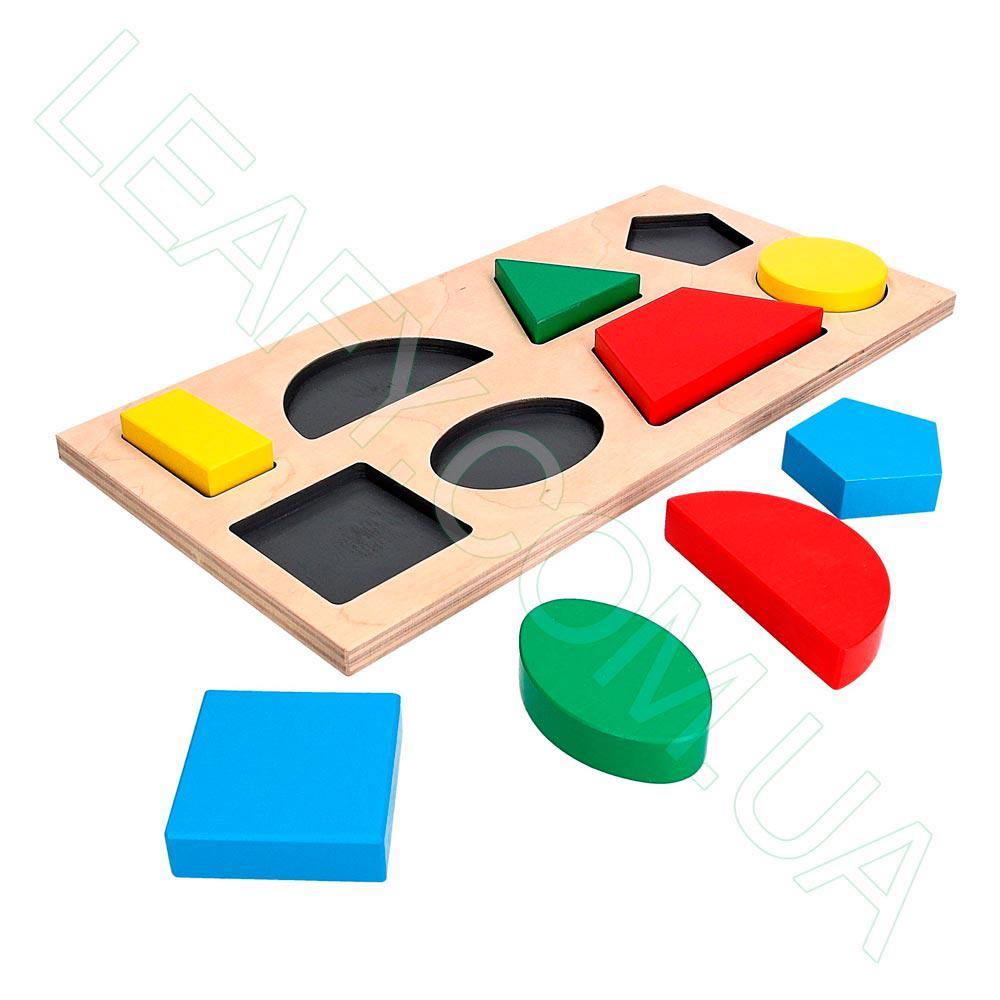 Дидактическая рамка-вкладыш на 8 фигур, Komarovtoys