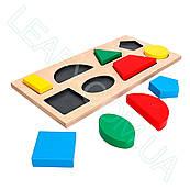 Дидактична рамка-вкладиш на 8 фігур, Komarovtoys