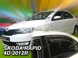 Дефлектори вікон (вітровики) Skoda RAPID 2012R.->/Seat Toledo 2013 5D 4шт(Heko)